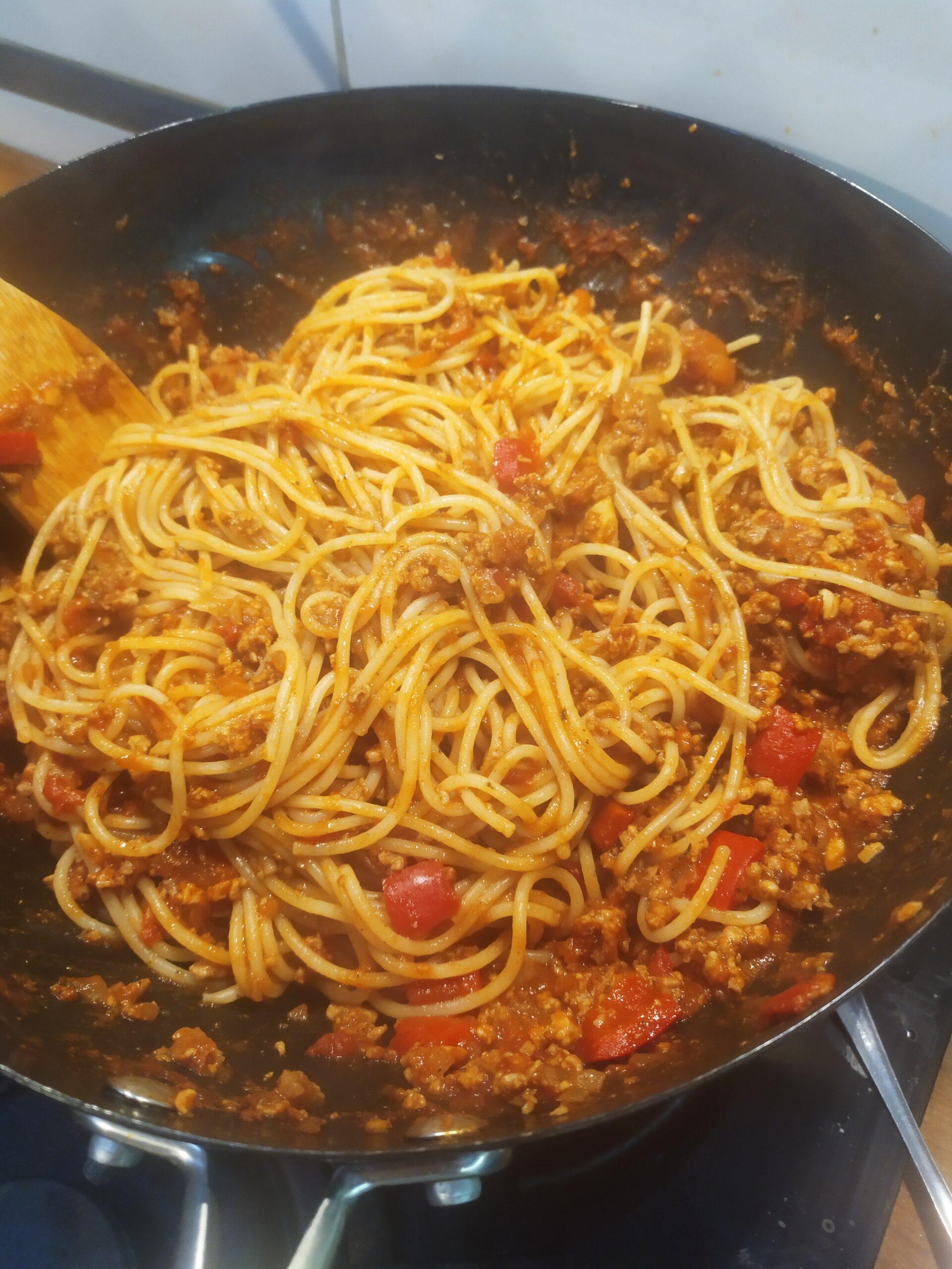 Spaghetti bolognese na ostro